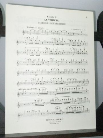 Tchaikovsky P I - The Tempest Fantasy for Orchestra Op 18 Flute 1 Part